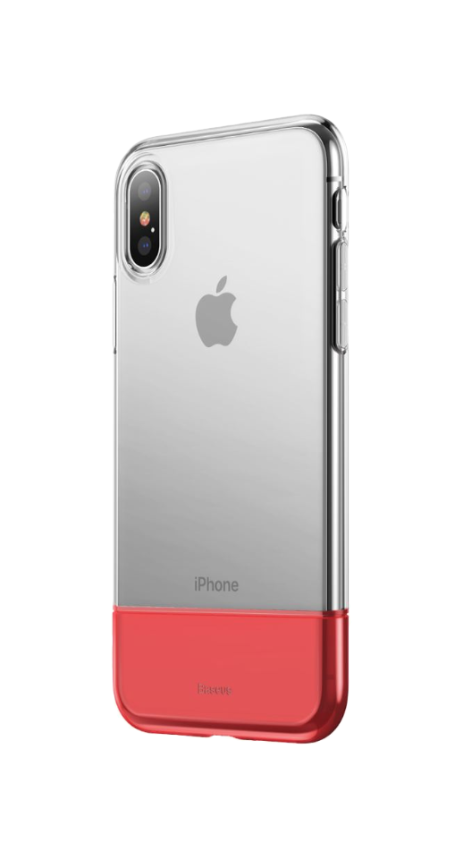 Image of   Baseus - iPhone X/XS dual TPU cover (rød)