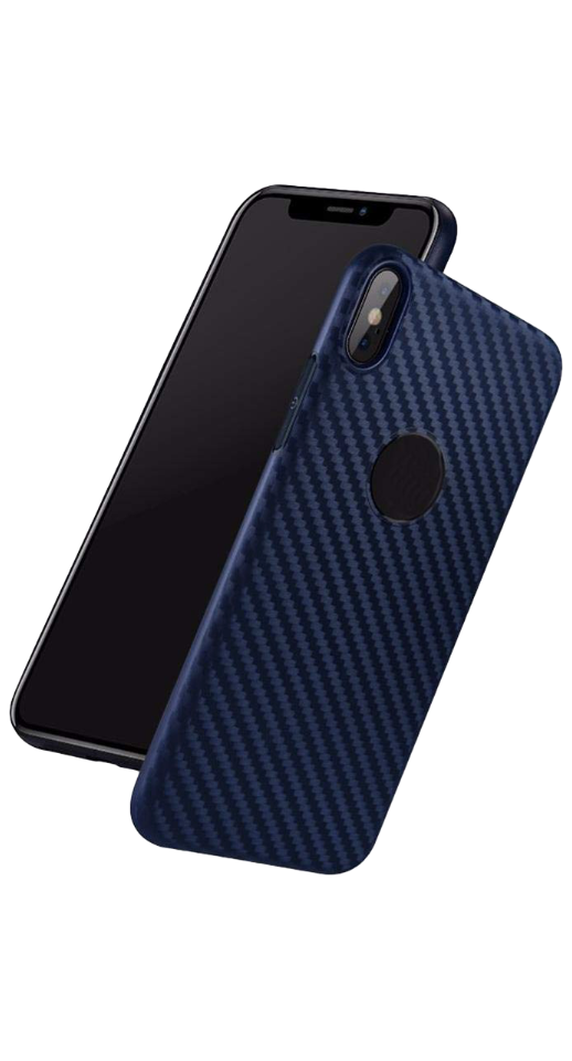 Image of   Hoco - iPhone XS Max carbon cover (blå)