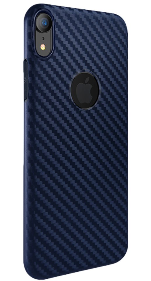 Image of   Hoco - iPhone XR carbon cover (blå)