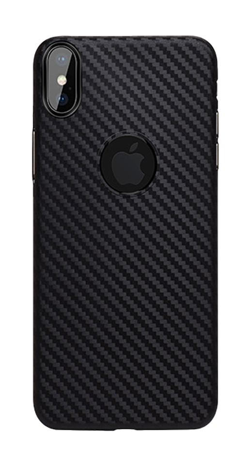 Image of   Hoco - iPhone X/XS carbon cover (sort)