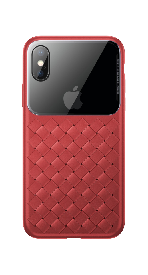 Image of   Baseus - iPhone XS Max flet cover (rød)